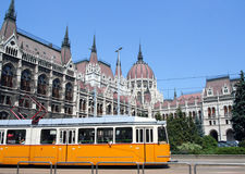 Tram & Hungarian Parliament Building Stock Image