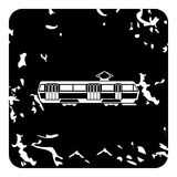 Tram icon, grunge style Royalty Free Stock Photography
