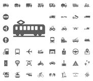 Tram icon. Transport and Logistics set icons. Transportation set icons.  Stock Image