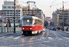 Free Tram In Prague Royalty Free Stock Photos - 60590228