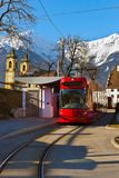 Tram in Innsbruck Austria Royalty Free Stock Photo