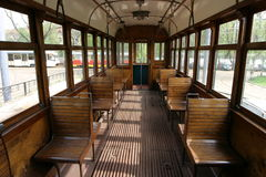 Tram inside Stock Photo