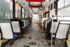 Tram interno. Immagine Stock