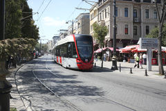 Tram in Istanbul. Royalty Free Stock Image