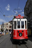 Tram in Istanbul,Turkey. ISTANBUL, TURKEY - MAY 25 : Tram  in Taksim Istiklal Street on May 25, 2011 in Istanbul, Turkey. Taksim Istiklal Street is one of the Stock Photos