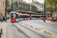 Tram in Istanbul, Turkey Royalty Free Stock Images