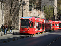 Tram in Istanbul, Turkey. Stock Image