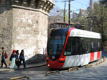 Tram in Istanbul, Turkey. Royalty Free Stock Image