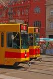Tram keine 11 in Basel Stockbild