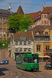 Tram keine 16 in Basel Stockbilder