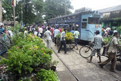 Tram at Kolkata. Royalty Free Stock Photography