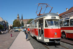 Tram in Kosice. Royalty Free Stock Photos
