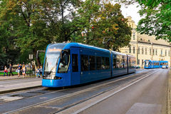 Tram in Krakow poland Royalty Free Stock Photo
