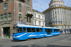 Tram in Krakow, Poland Royalty Free Stock Photo
