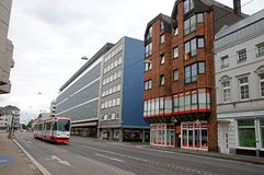 Tram  in Krefeld Stock Photos