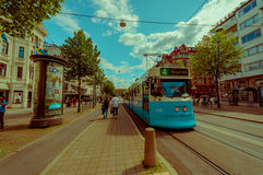 Tram in Kungsportsavenyen, Kingsgate Avenue Stock Photo