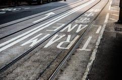 Tram lane Stock Photography