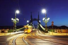 Tram on Liberty Bridge Stock Photos