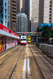 Tram line, Hong Kong Central District, China Royalty Free Stock Photography