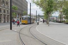 Tram line no 2, Budapest, Hungary Stock Photo