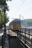 Tram line no 2, Budapest, Hungary Royalty Free Stock Photo