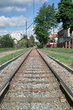 Tram lines. Royalty Free Stock Photo