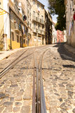 Tram-lines Royalty Free Stock Photography