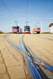Tram lines Stock Images