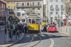 Tram 12 in Lisbon Stock Images