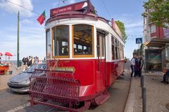 Tram of Lisbon, Portugal Stock Photos