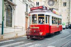 Tram - Lisbon, Portugal. Lisbon, Portugal - May 10, 2017:The old and famous Lisbon tram Royalty Free Stock Photo