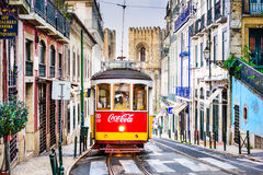 Tram in Lisbon Royalty Free Stock Images
