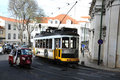 Tram in Lisbon Stock Photos