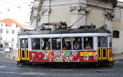 Tram in Lisbon Stock Image