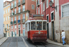 tram Lisbona, Lisbona, Lissabon Immagini Stock Libere da Diritti
