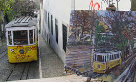 Tram Lisbonne image libre de droits