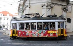 Tram in Lissabon Stock Afbeelding