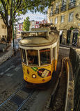 Tram in Lissabon Stock Foto