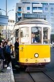 Tram 28, Lissabon Stockbilder