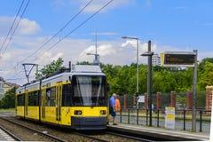 Tram M8 in East side Berlin Stock Photos