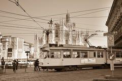 Tram, Mailand Stockfotos