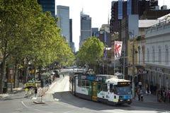 Tram a Melbourne Fotografia Stock Libera da Diritti