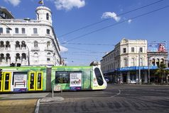 Tram in Melbourne Stockfotografie