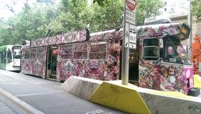 Tram in Melbourne stock photo