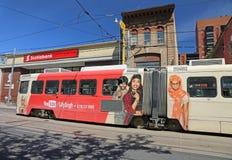 Tram met u buisbevordering Royalty-vrije Stock Foto's