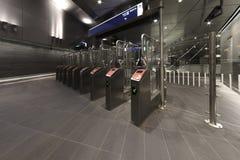Tram Metro Tollgate royalty free stock photo