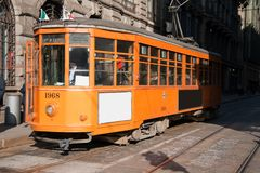 Tram in Milan Royalty Free Stock Photography