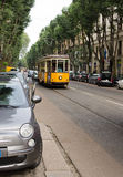 Tram in milan Stock Image