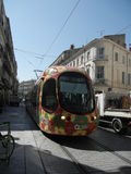 Tram in Montpellier Royalty Free Stock Photo