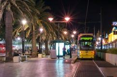 Tram an Moseley-Quadrat, Glenelg Stockfoto